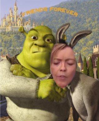 Tracey Morris-Shrek donkey