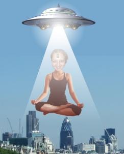 Neelu flying saucer yoga