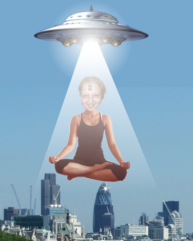 Neelu flying saucer yoga