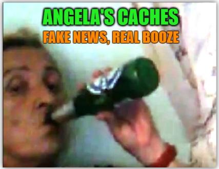 Angela drinking beer meme