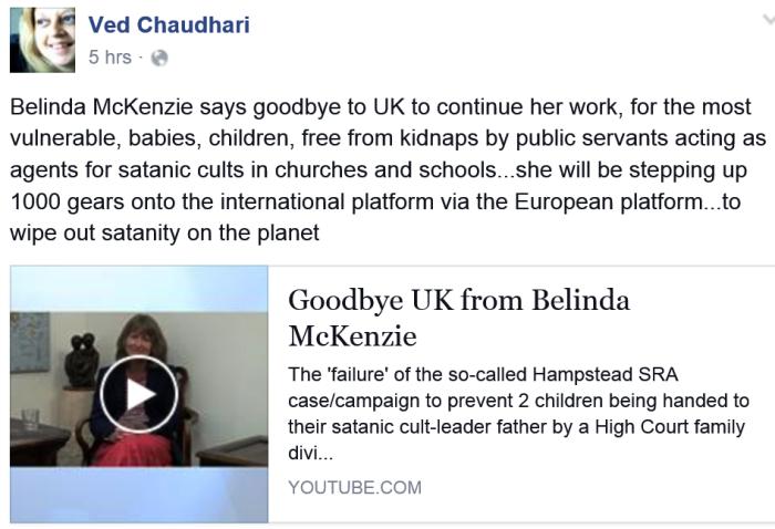 Neelu re Belinda farewell