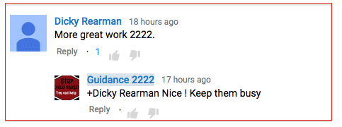 Dicky Rearman to Guidance 2222-2015-09-20