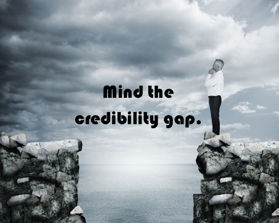 Mind the credibility gap
