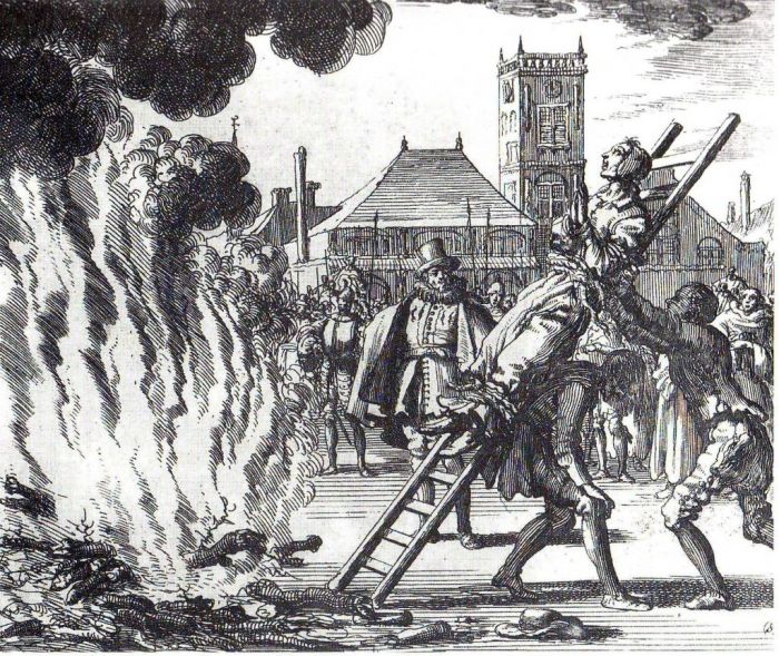 Execution-of-Anne-Hendricks-in-Amsterdam-in-1571-burned