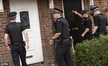 police knock on door