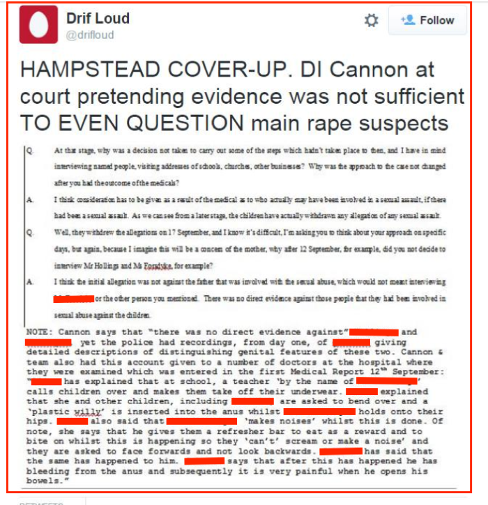 Drifloud on Twitter-court transcripts 1