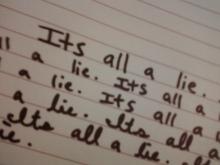 It's all a lie