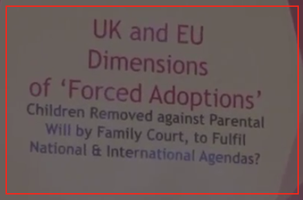 National and international agendas-Forced Adoptions event