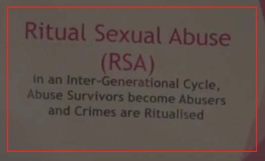 Ritual sexual abuse-Forced Adoptions event