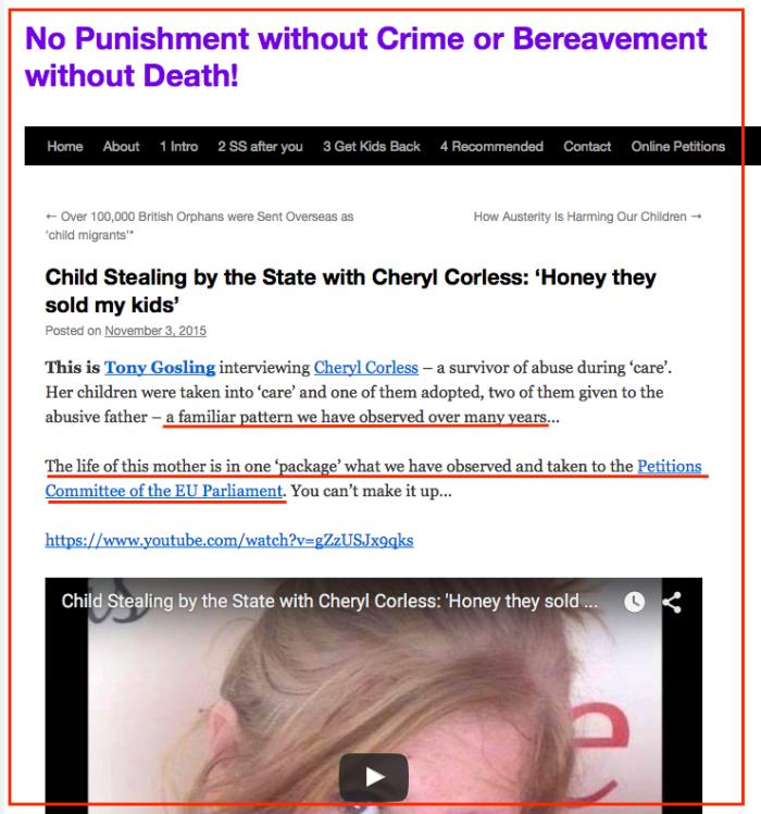 Sabine steals Cheryl Corless story