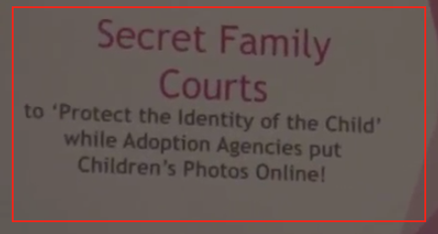 Secret family courts-Forced Adoptions event