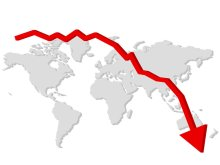 9532-falling-graph-with-a-map-of-the-world-pv