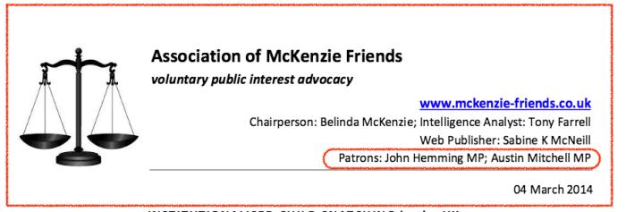 Assn of McKenzie Friends-Hemming + Mitchell