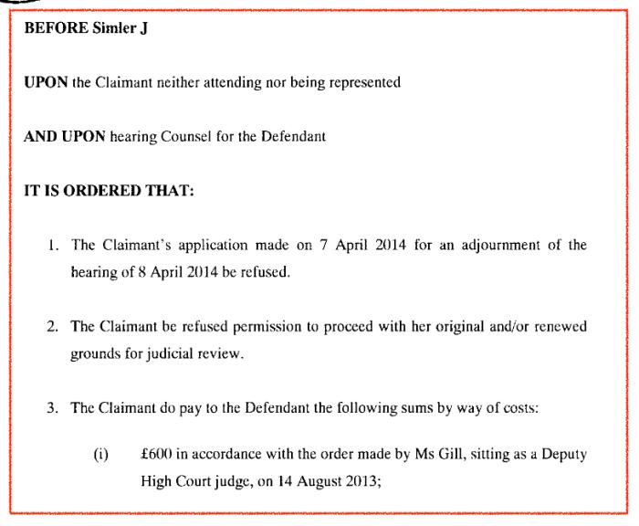 Sabine Beinda Court Order Melissa Laird