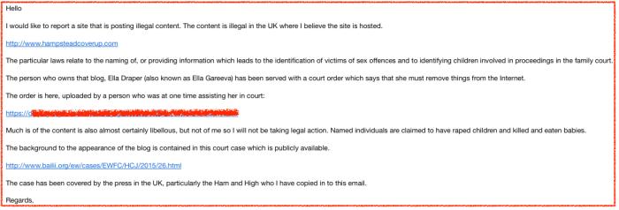 Wix-complaint letter