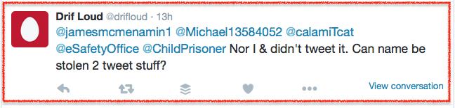Drifloud-didn't tweet-2 2016-01-25