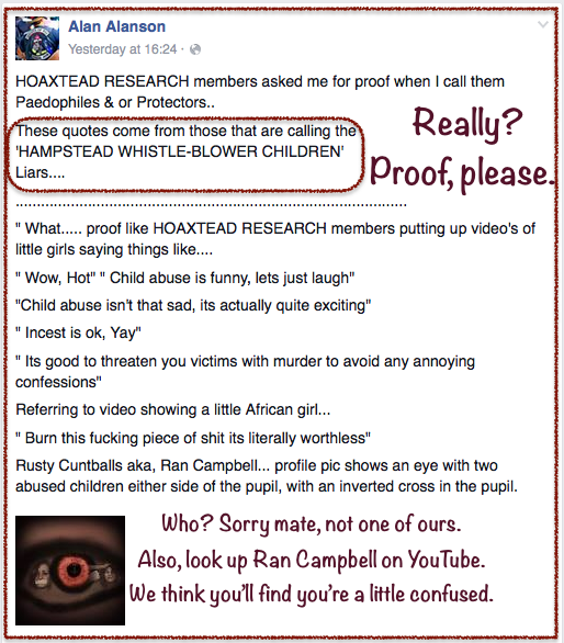 Alan Alanson-lies about Hoaxtead R 2016-02-23