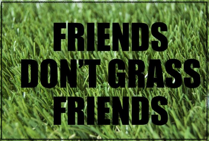 Friends don't grass friends