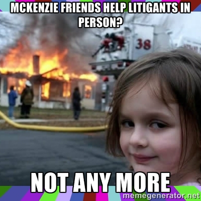 McKenzie friends help
