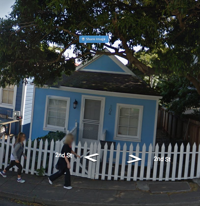 Angie's house in Sausalito- 104 Second Street