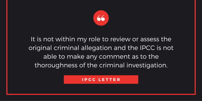 IPCC letter