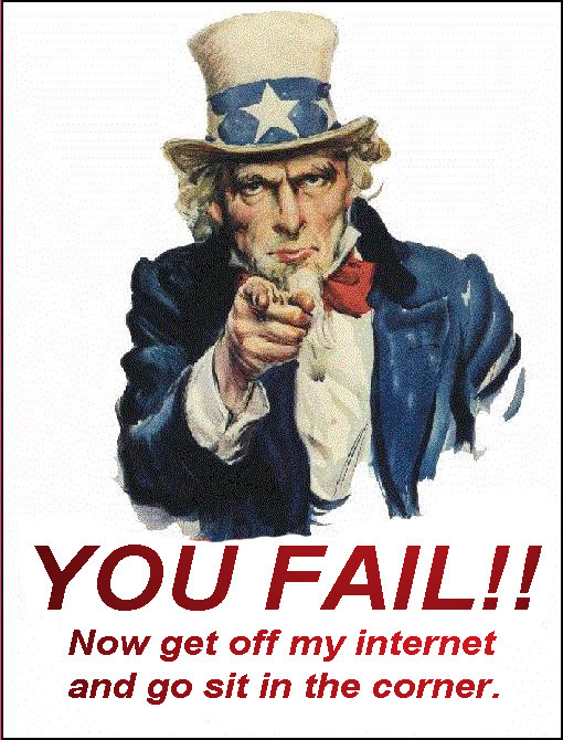 Uncle Sam You fail
