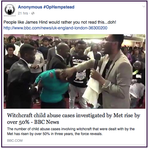 Anon OpHampstead-Jake Clarke-witchcraft 2016-05-18