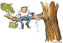 self sabotage cutting tree