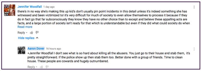 Aaron Dover Hampstead stabbing threat 2016-07-01