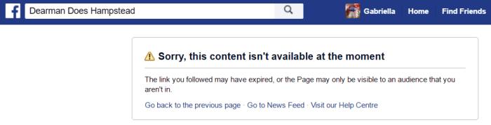 DDH FB page gone