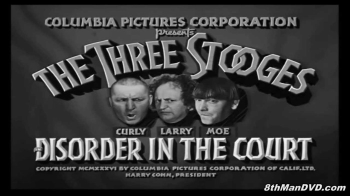 disorder in the court-3 stooges