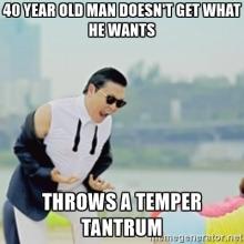 temper tantrum-man