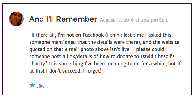 And I'll Remember comment 2016-08-17