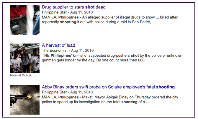 Philippines shooting news search 2016-08-20