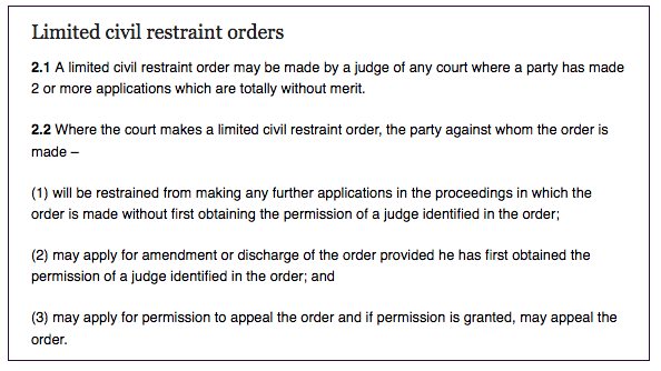 limited-civil-restraint-order