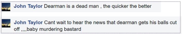 john-taylor-death-threat