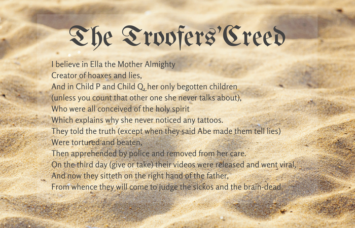 The Troofers'Creed