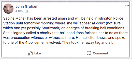 Butlincat re Sabine arrest 2018-03-04