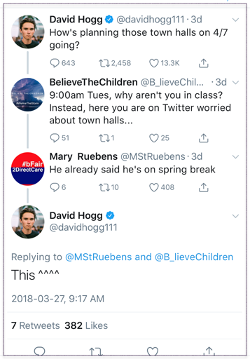 Kris Costa to David Hogg 1