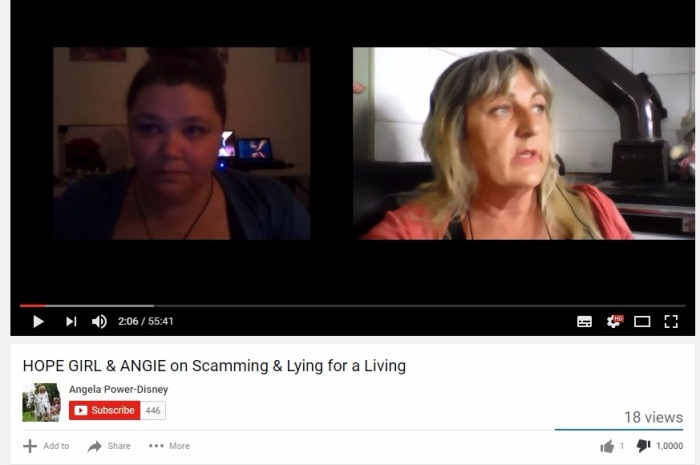 Hope Girl & Angie scamming for a living