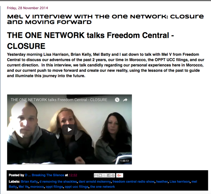 Mel Ve interview with One Network