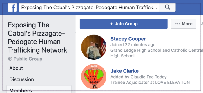 Cabal Pizzagate group 2018-05-11 15