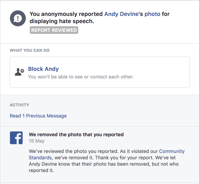 Devine FB strike
