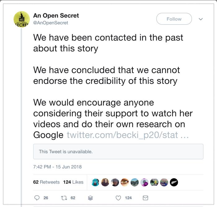 Becky Percy v Open Secret 2018-06-18 1