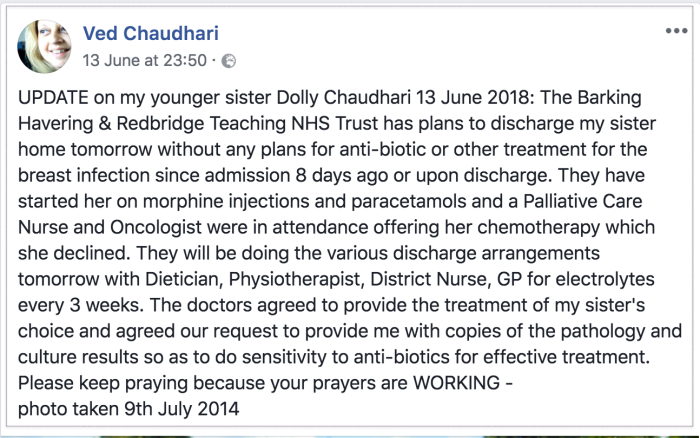 Neelu sister report 2018-06-15