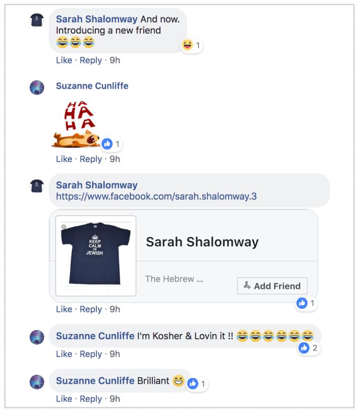 Sarah Hemingway anti-semitic 2018-07-14 2