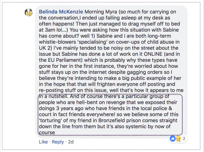 Belinda re Sabine 2018-08-04 5