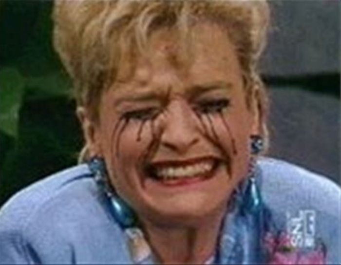 Tammy Faye Bakker crying