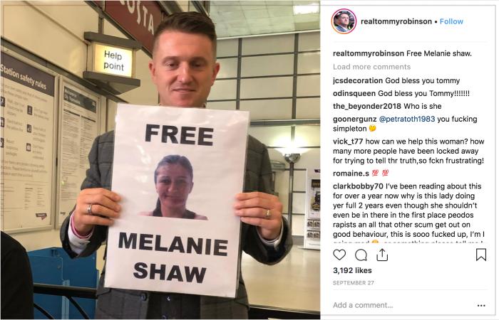 Tommy Robinson 2018-10-17 Melanie Shaw