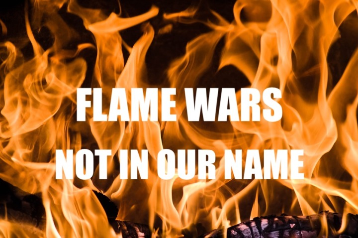 Hoaxtead Research: Flame wars, not in our name